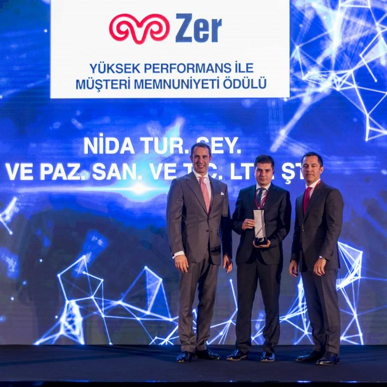 Yüksek Performansa Dayalı Müşteri Memnuniyeti Ödülü Sahibi ''NİDA TURİZM''